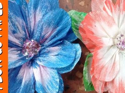 Como fazer Flores de Papel Crepom, diy facil e barato!