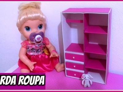 Como fazer GUARDA ROUPA pra bonecas baby alive,,bebezinhos.etc