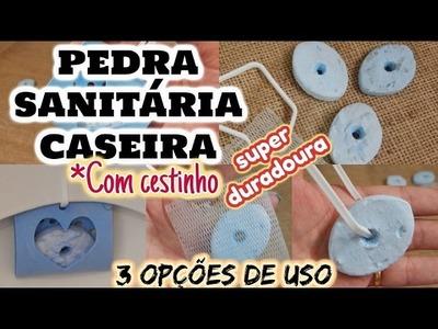 PEDRA SANITÁRIA CASEIRA COM CESTINHO
