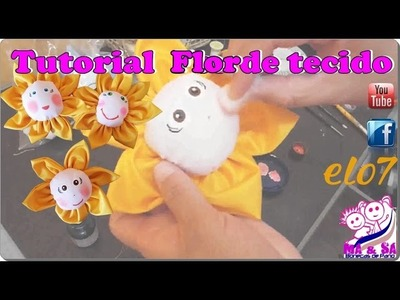 Tutorial Flor de Tecido | Má & Sá Bonecas de Pano