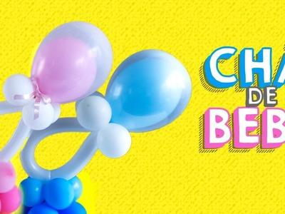 Centro de Mesa de Balões | Chá de Bebê