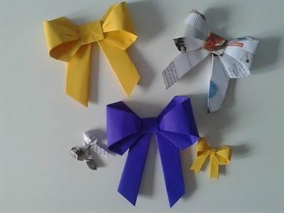 Como Fazer Laço de Papel (Dobradura - Origami) Passo a Passo!