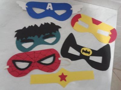 Como fazer mascaras de super herois com E V A