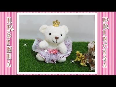 Como personalizar  Ursinha ,para decorar Kit Maternidade Princesa