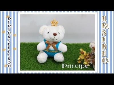 Como personalizar Ursinho príncipe para Kit Maternidade
