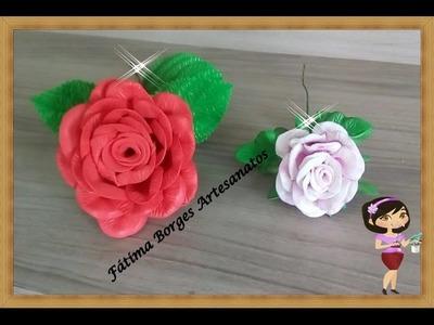 DIY- Passo a Passo da Rosa Conjugada e  Rosa Mirim