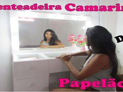 DIY: Penteadeira de Papelão-Meu quarto Meu Cantinho  PARTE 01