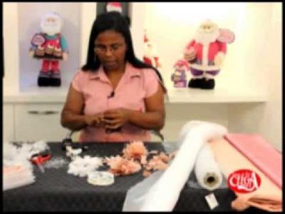 Eliana Donato ensina fazer flor de cabelo com organsa e ceitin.