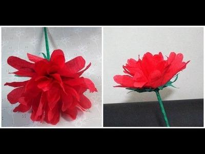 Flor de Papel Crepom - passo a passo #3