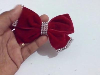 Laço catavento de veludo opção para o natal. lace with velvet ribbon