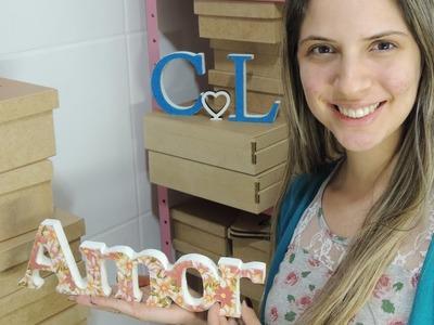 Letra Forrada de Tecido Passo a Passo - com Camila Nardeli (parte de um hangout)
