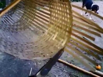 Arandela de taquara azul e bambu de pescar (PARTE 3.3)