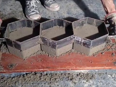 Como fazer paver, bloquete de calçada, piso intertravado