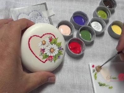 Coração com Flores em Sabonete (Aula 68)
