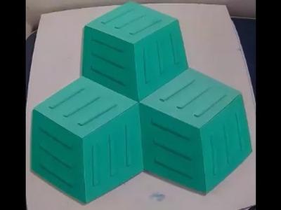 Parte 1.2. Criando e fabricando formas de placas 3D cubos para revestimento de paredes