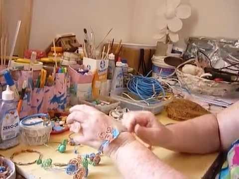 Pulseiras Feitas com Fio de Eletricidade - Artesanato Popular