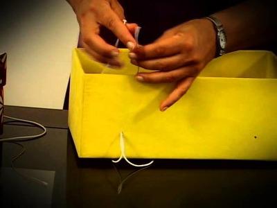 Reciclando caixa de sapato - Geração de Rendas I