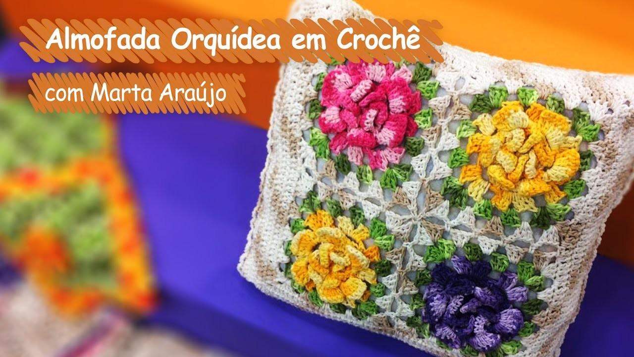 Loja Artesanato Rio De Janeiro ~ Almofada Orquídea em Croch u00ea Marta Araújo, Vitrine do