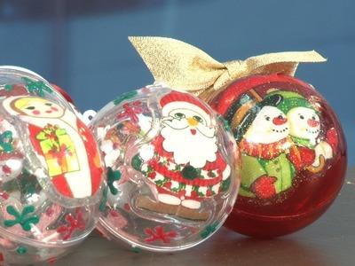 Aprenda a fazer bolas de natal personalizadas para sua árvore; veja vídeo