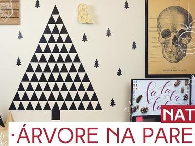 Árvore de Natal na parede | Natal by Aline Albino
