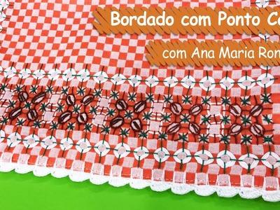 Bordado com Ponto Café - Ana Maria Ronchel  | Vitrine do Artesanato na TV - Gazeta