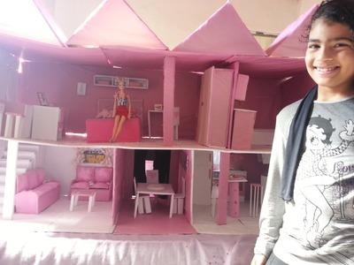 Casa da barbie feita de papelão ★ SUA AMIGA
