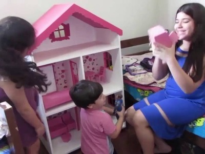 Como fazer Casa de boneca Barbie e Monster High, artes de garagem