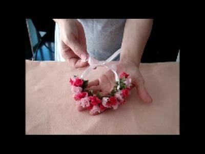 Como fazer coroa de flores passo a passo