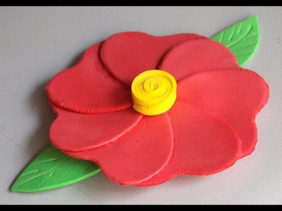 Como fazer flor de E.V.A. decorativa