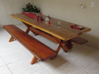 Como fazer uma mesa de madeira pé em x