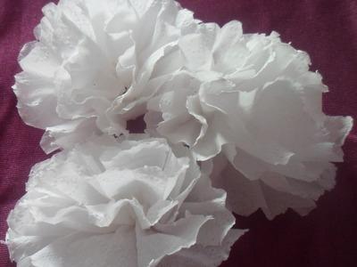 Flor de papel higiênico | Faça você mesmo