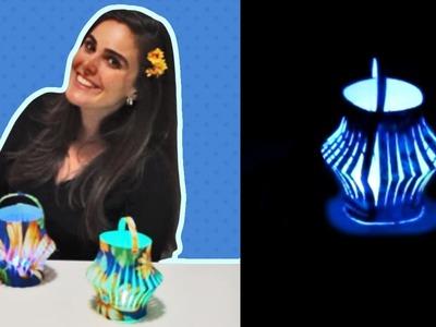 Lanterna. Lamparina para Decoração de Festa Junina