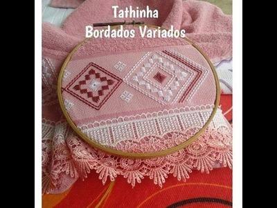 Tathinha Bordados #68 - PONTO RETO DUPLO OU PONTO INCLINADO