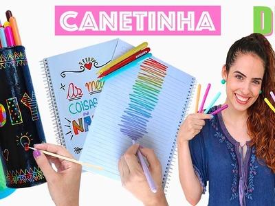 VOLTA ÀS AULAS: DIYs INCRÍVEIS USANDO CANETINHA | Paula Stephânia