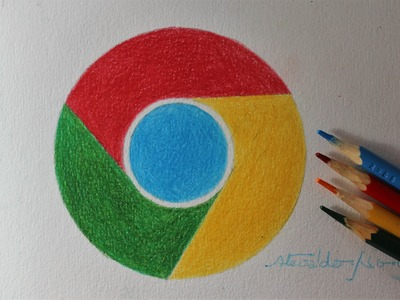 Como desenhar a logo do Google Chrome I How to Draw the Chrome Logo