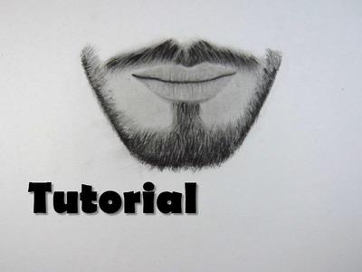 Cómo dibujar una barba fácilmente. How to draw a beard