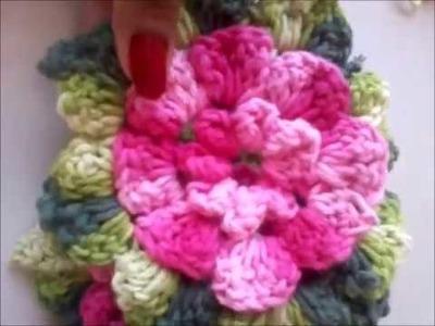 Como fazer flor para aplicação em crochê