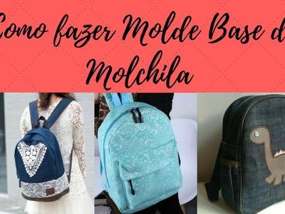 Como fazer molde de mochila