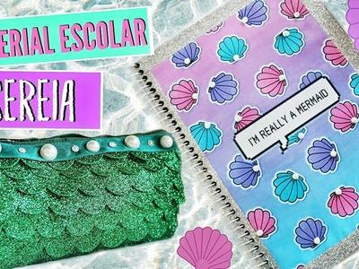 DIY MATERIAL ESCOLAR DE SEREIA (ESTOJO E CADERNO TUMBLR)