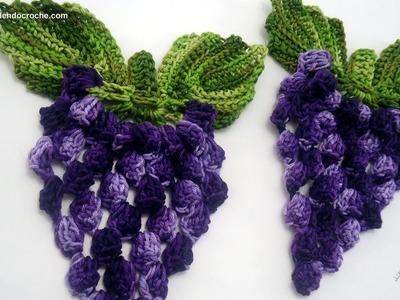 Motivo Cacho de Uvas em Crochê - Aprendendo Crochê