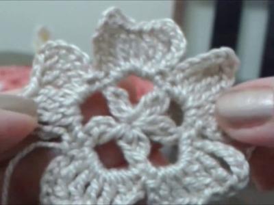 Motivos de crochê, Flor #1