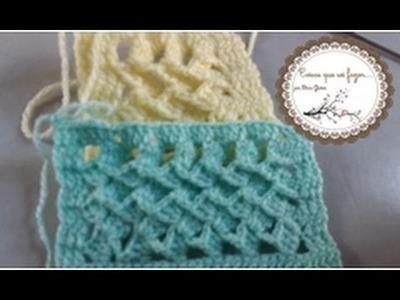 Ponto Turco ideal para mantas, blusas,  colchas. . .  Crochê nº 16