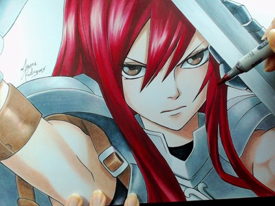 Speed Drawing - Erza Scarlet (Fairy Tail)