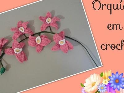 Versão canhotos:Orquídea phalaenopsis em crochê modelo 1 ( 2° parte final) # Elisa Crochê