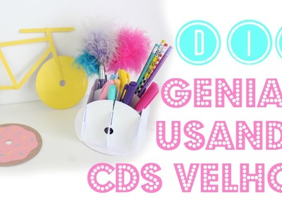 3 DIYs GENIAIS Utilizando CDs Velhos   Larissa Vale