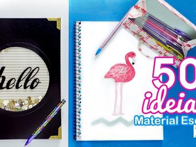 50 IDEIAS VOLTA ÀS AULAS PRA VOCÊ SE INSPIRAR   Cadernos, estojo e canetas