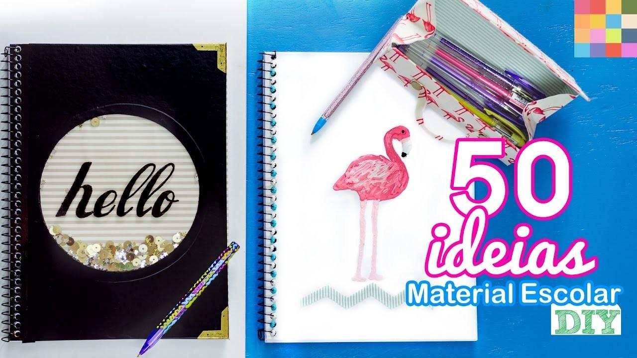 50 IDEIAS VOLTA ÀS AULAS PRA VOCÊ SE INSPIRAR | Cadernos, estojo e canetas