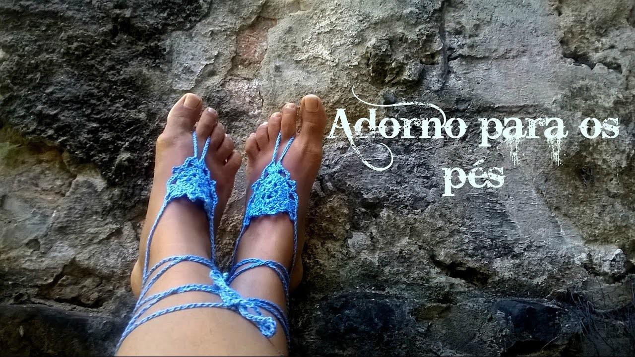 Adorno para os pés em crochê