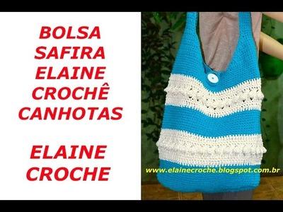 BOLSA SAFIRA ELAINE CROCHÊ CANHOTAS