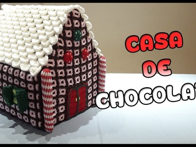 Casa de chocolate a crochet
